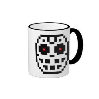 Pixel Hockey Goalie Mask Ringer Coffee Mug