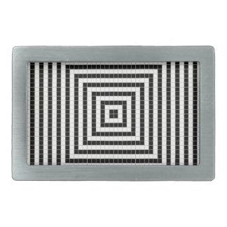 Pixel Illusion Pattern Rectangular Belt Buckle