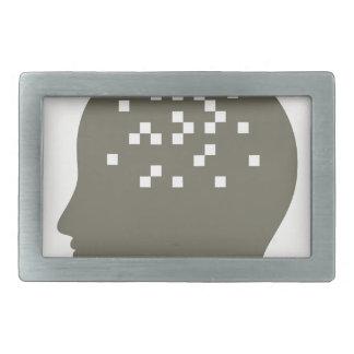 Pixel in a head rectangular belt buckle