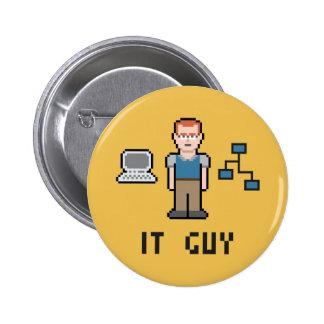 Pixel IT Guy Round Button 2 Inch Round Button