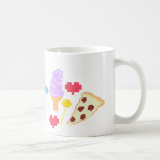 Pixel Junk Food Art Coffee Mug