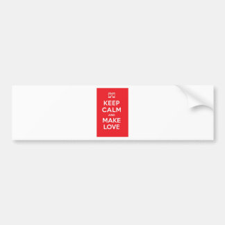 Pixel Keep Calm And Make Love Bumper Sticker