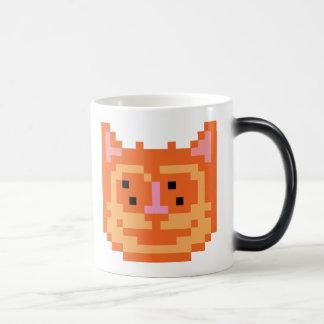 Pixel Kitty Cat 11 Oz Magic Heat Color-Changing Coffee Mug