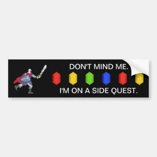 Pixel Knight Side Quest Bumper Sticker