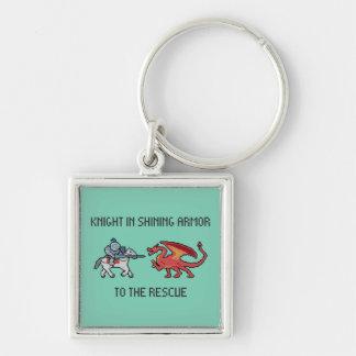 Pixel Knight vs Dragon Keychain