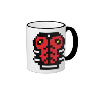 Pixel Ladybug Ringer Coffee Mug