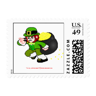 Pixel Leprechaun Postage 1