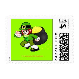 Pixel Leprechaun Postage 10