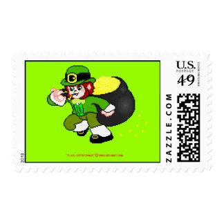 Pixel Leprechaun Postage 11
