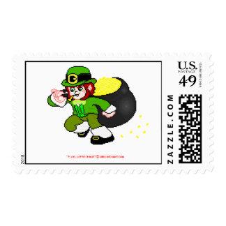 Pixel leprechaun Postage 2