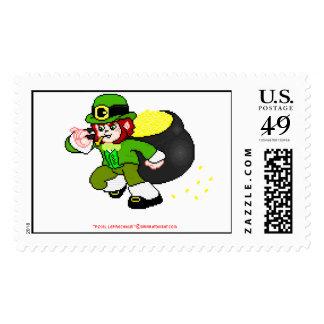 Pixel Leprechaun Postage 3