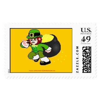 Pixel Leprechaun Postage 6