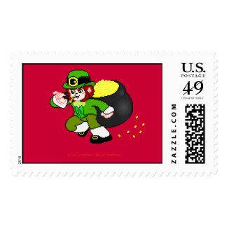 Pixel Leprechaun Postage 9
