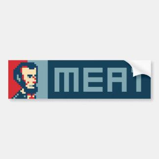 Pixel Lincoln Bumper Sticker - Meat
