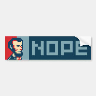 Pixel Lincoln Bumper Sticker - Nope