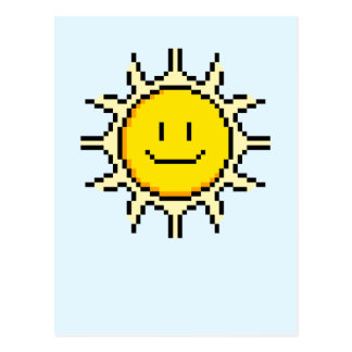 Pixel lindo Sun Postales