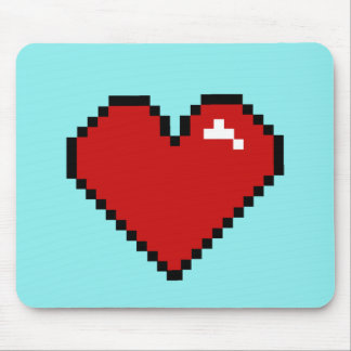 Pixel Love Red Large Mouse Pad