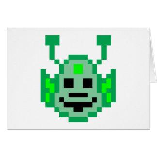 Pixel Martian Alien Cards