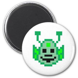 Pixel Martian Alien Refrigerator Magnets