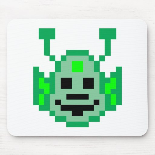 Pixel Martian Alien Mouse Pad