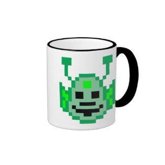 Pixel Martian Alien Coffee Mugs