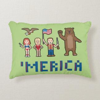 Pixel 'Merica Decorative Pillow