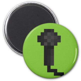 Pixel Microphone Retro 8Bit Green Magnet