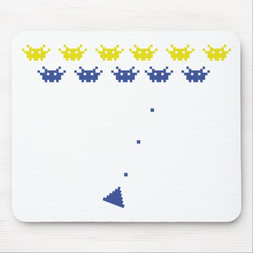 pixel monster computer game icon mouse pad