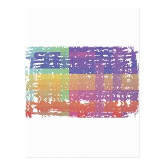 Pixel Nation Distressed Postcard