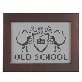 Pixel Old School Dinosaur Keepsake Box