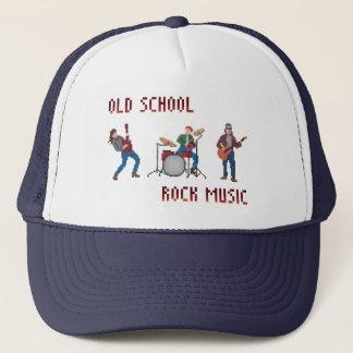 Pixel Old School Rock Music Trucker Hat
