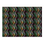 Pixel olográfico brillante oscuro del modelo de on postales