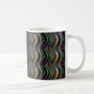 Pixel olográfico brillante oscuro del modelo de taza
