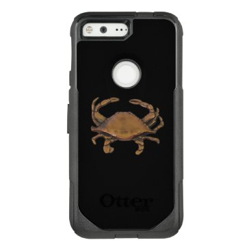 nautical_gifts Pixel OtterBox Nautical Copper Crab on Black OtterBox Commuter Google Pixel Case