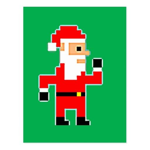 Pixel Papá Noel Postal