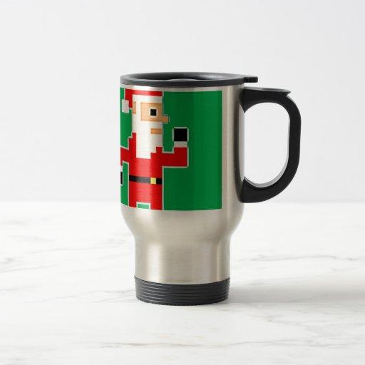 Pixel Papá Noel Taza