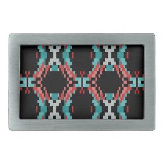 Pixel Pattern Rectangular Belt Buckle