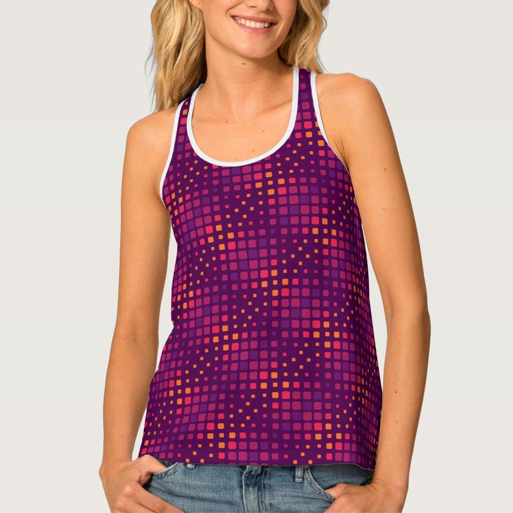 Pixel Pattern Tank Top