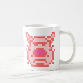 Pixel Pig Classic White Coffee Mug