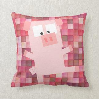 Pixel Pig Grade A Cotton Throw Pillow 16x16