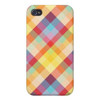 Pixel Plaid Colors  iPhone 4 Cover