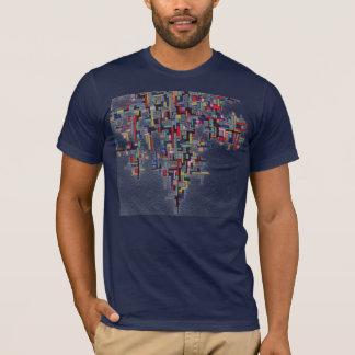 Pixel Pop Abstract Fractal Designs T-Shirt