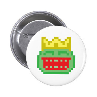 Pixel Prince Frog Toad 2 Inch Round Button