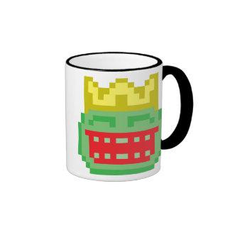 Pixel Prince Frog Toad Ringer Coffee Mug