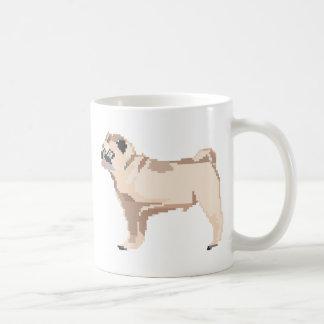 pixel pug coffee mug