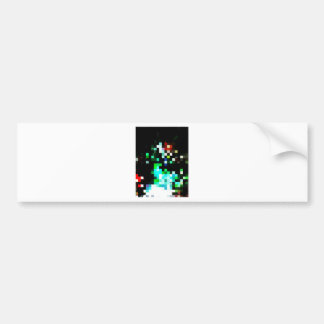 Pixel Punk Bumper Sticker