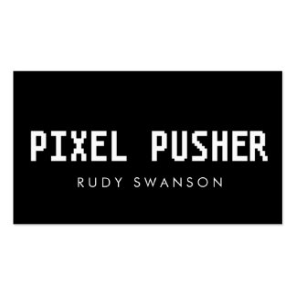 Quotpixel pusherquot card for web and graphic designers business for Business card pixels