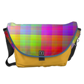 Pixel Quilt Messenger Bag