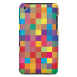 Pixel Rainbow Square Pattern Barely There iPod Cases