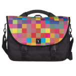 Pixel Rainbow Square Pattern Commuter Bag